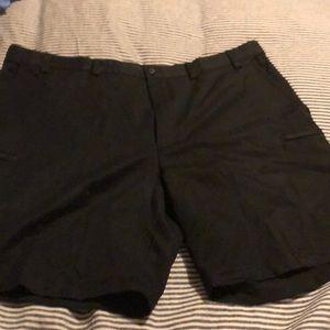 Black golf shorts